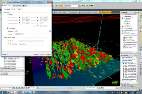 Discontinuity Stability Analysis (DSA) Petroleum Engineering Software Application