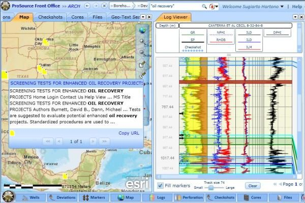 ProSource Front Office Petroleum Engineering Software Application