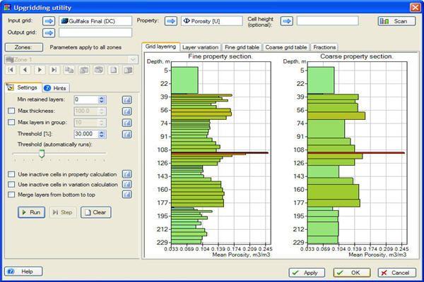 Upgridding Utility Petroleum Engineering Software Application