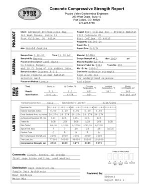 Quality Control - Concrete Petroleum Engineering Software Application