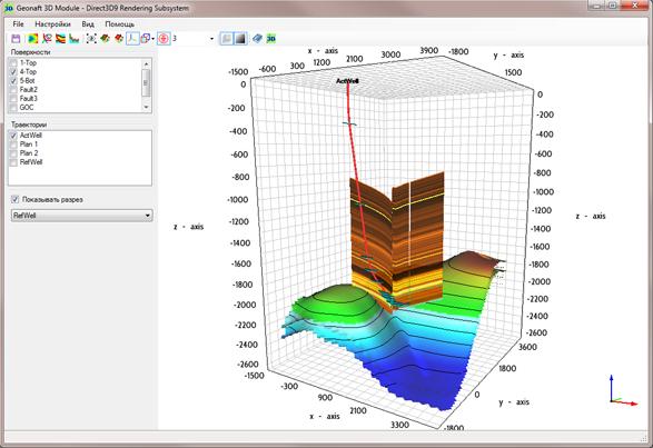 GEONAFT-3D Module Petroleum Engineering Software Application