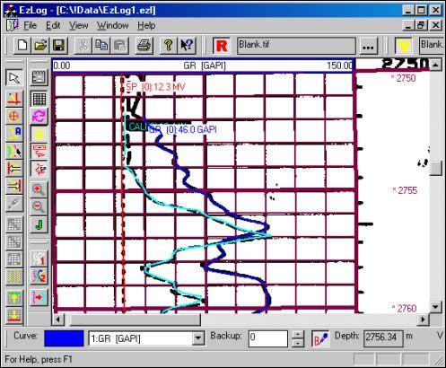 EZLOG Well Log QC and Digitising Petroleum Engineering Software Application